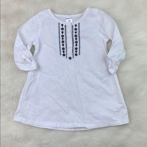 Baby Casual White & Black Long Sleeve Dress 12M